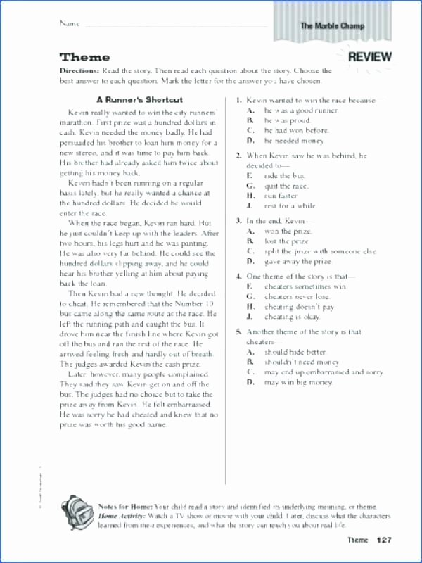 Theme Worksheets Grade 5 Plot Diagram Worksheet Short Story and theme Worksheets for
