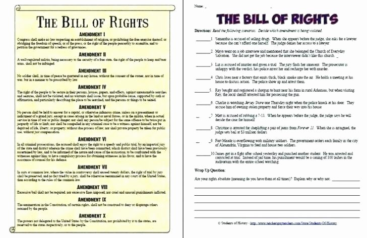 Theme Worksheets High School Free Printable Constitution Worksheets Bill Rights