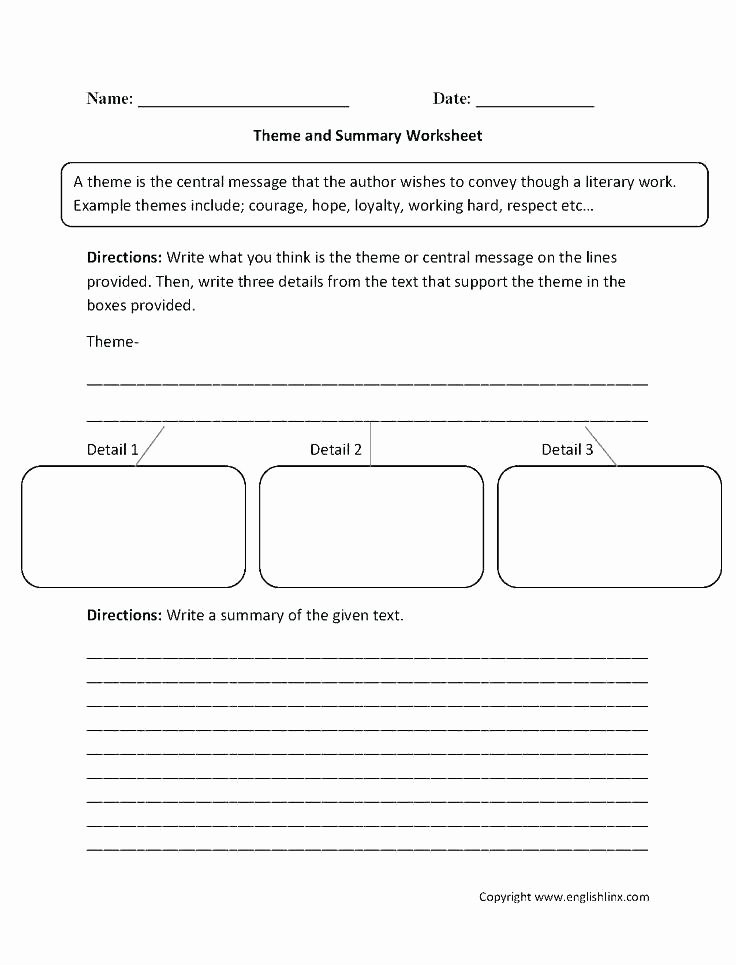 Theme Worksheets Middle School Pdf Fresh Identifying theme Worksheets