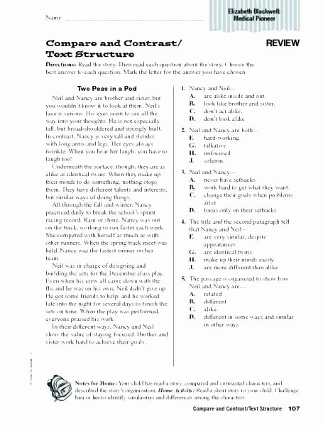 Theme Worksheets Middle School Pdf Lovely Text Structure Worksheets for Middle School