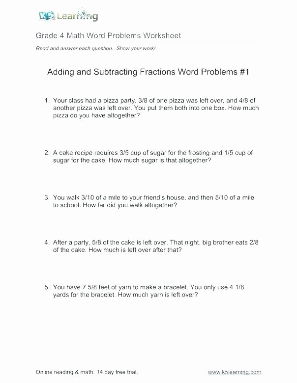 Third Grade Fraction Word Problems Grade Math Word Problems Rounding Addition the top 5 Reasons