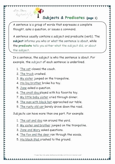 Third Grade Grammar Worksheet Grammar Worksheets for Grade 3