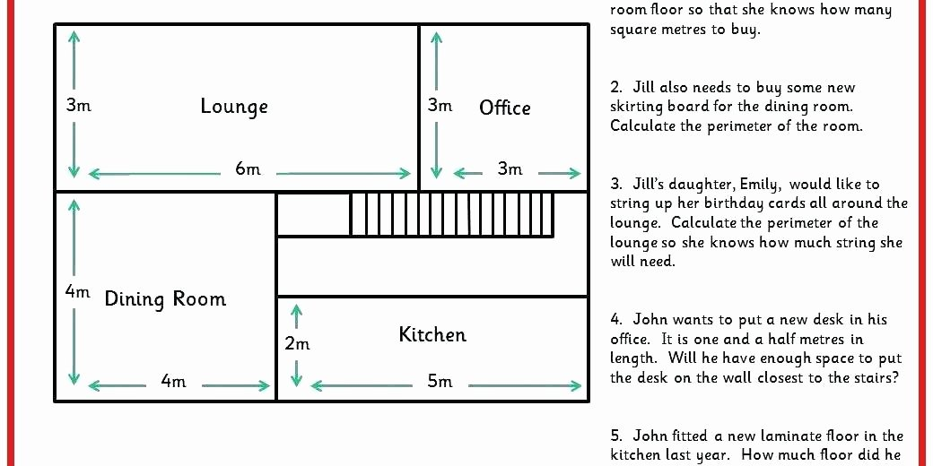Third Grade Perimeter Worksheets area and Perimeter Word Problems Worksheets