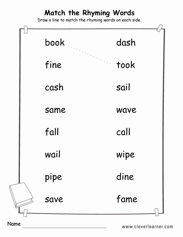 Three Letter Word Worksheets Three Letter Rhyming Words In English