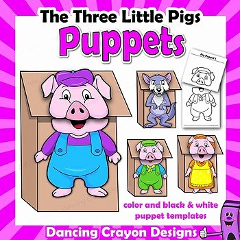 Three Little Pigs Worksheets 3 Little Pigs Puppets Worksheets & Teaching Resources