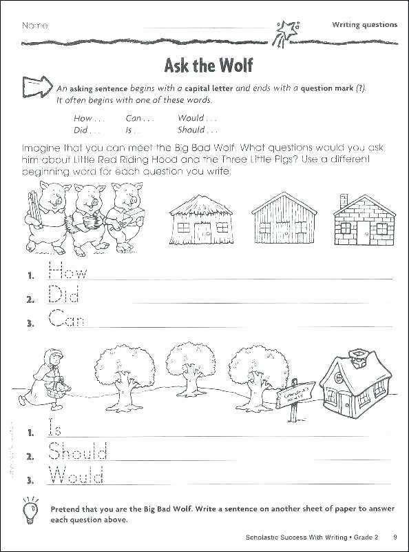 Three Little Pigs Worksheets Free Name Writing Worksheets for Preschool