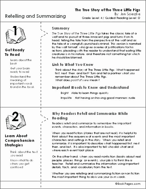 Three Little Pigs Worksheets Sequencing events Worksheets for Grade 4 Sequence events