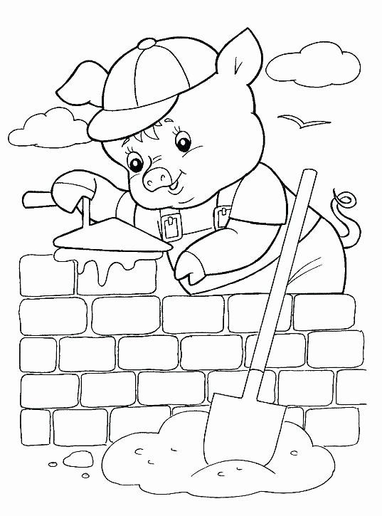 Three Little Pigs Worksheets Three Little Pigs Coloring Pages Album Sabadaphnecottage