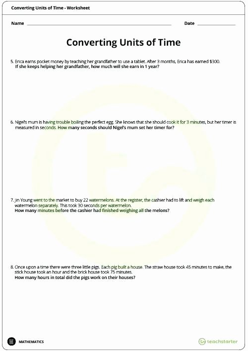 Time and Measurement Worksheets Time Conversion Worksheets – Katyphotoart