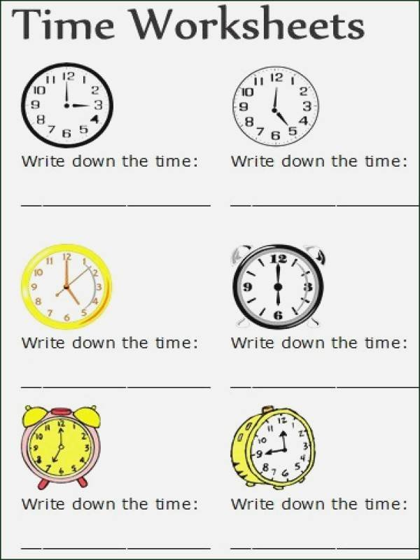 Time and Measurement Worksheets Time Worksheets
