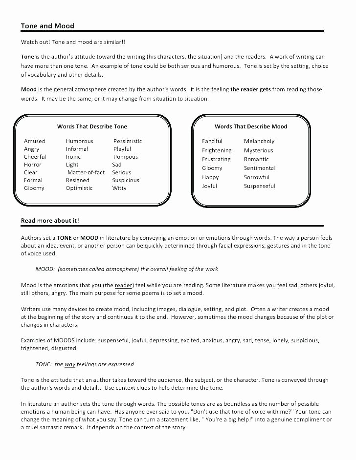 Tone and Mood Worksheet Pdf Rhythm Worksheets for Middle School Music Appreciation High Ap