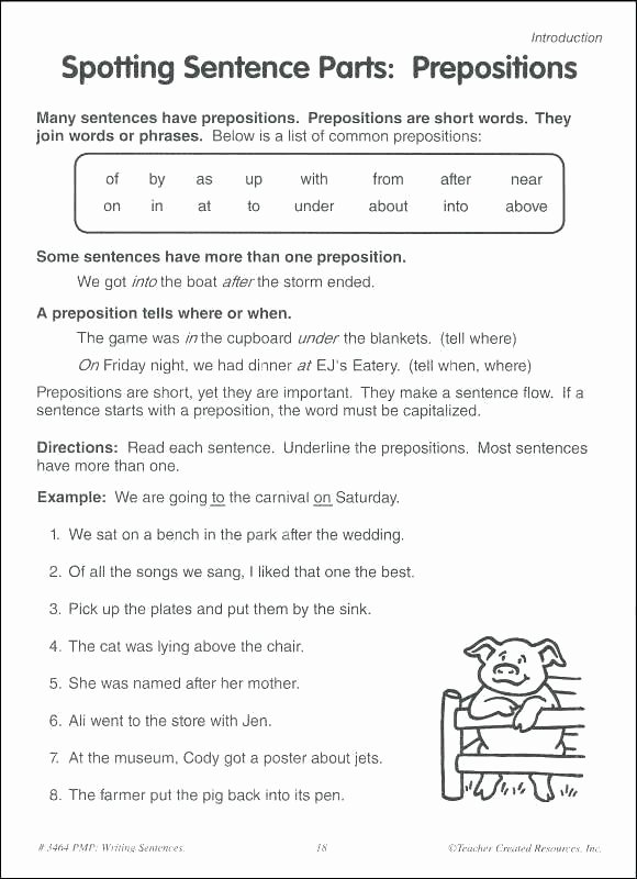 Topic Sentence Worksheet 2nd Grade Grade Sentence Worksheets Subjects Writing topic Sentences