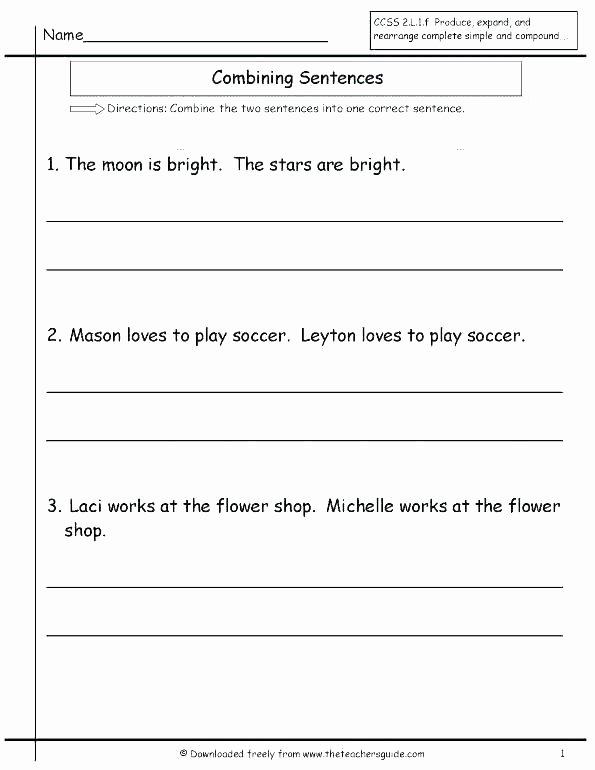 Topic Sentence Worksheet 2nd Grade Number Sentence Worksheets 2nd Grade – butterbeebetty