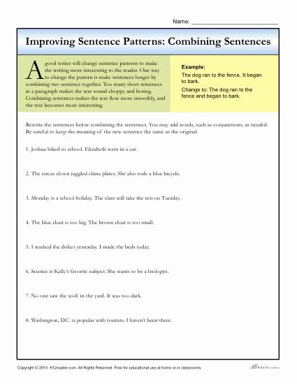 Topic Sentence Worksheets 5th Grade 8th Grade School Work
