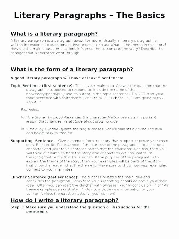 Topic Sentence Worksheets 5th Grade Main Idea Of A Paragraph Worksheets