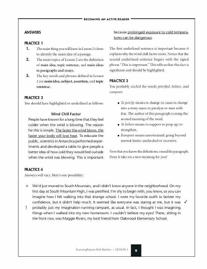 Topic Sentences Worksheets 3rd Grade Main Idea Worksheets with Answer Key Find the topic Sentence