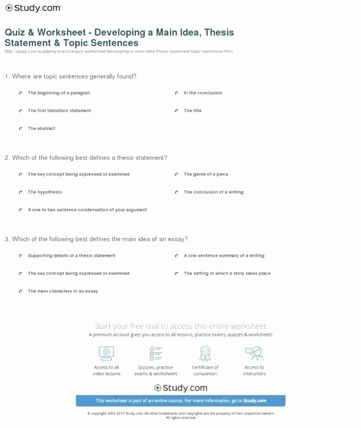 Topic Sentences Worksheets Grade 4 Irrelevant In A Sentence Redundancy Removal Sentences Free