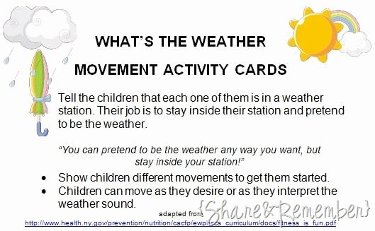 Tornado Worksheets for Kids What S the Weather Movement Activity Pt Stuff