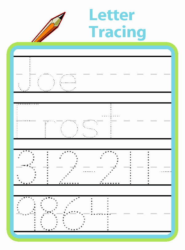 Traceable Letter A Letter Tracing Great for Preschool and Kindergarten