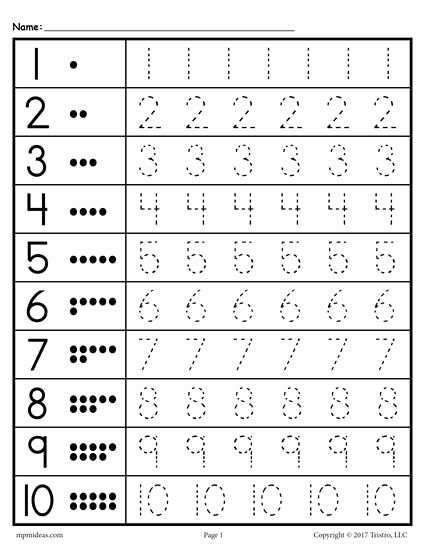 Traceable Numbers 1 20 Free Tracing Worksheets Numbers 1 20