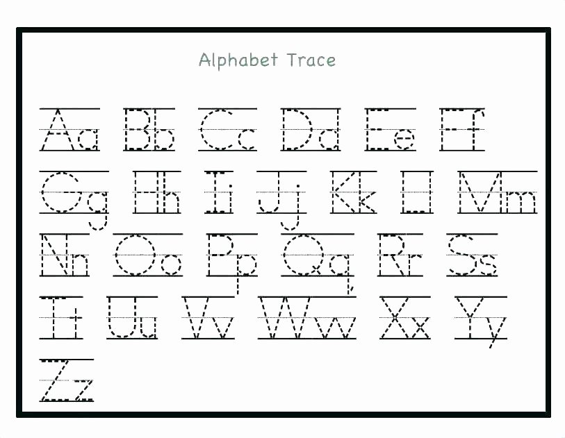Tracing Alphabet Pdf Printable Printing Worksheets Free Number Tracing 1 Practice