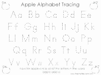Tracing Letters Worksheet Az A to Z Worksheets for Kindergarten