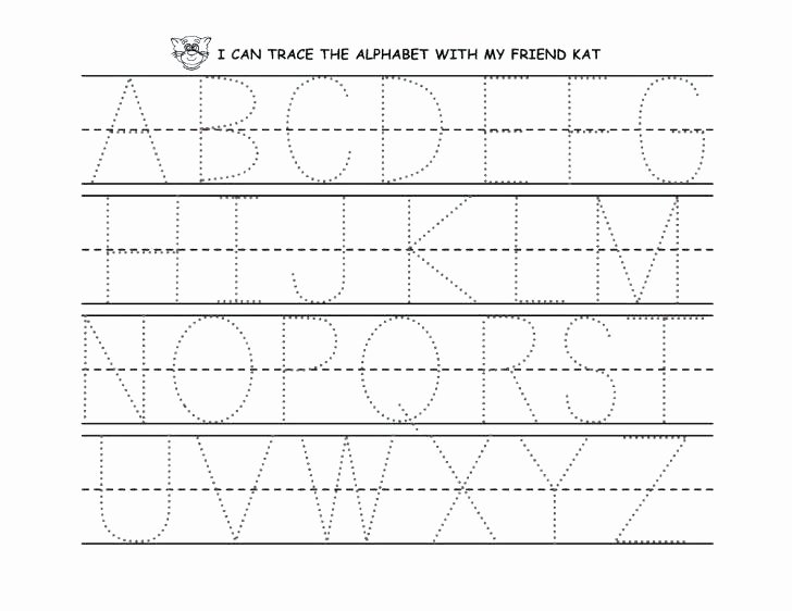 Tracing Letters Worksheet Az A Z Alphabet Tracing Worksheets by Alphabet Tracing