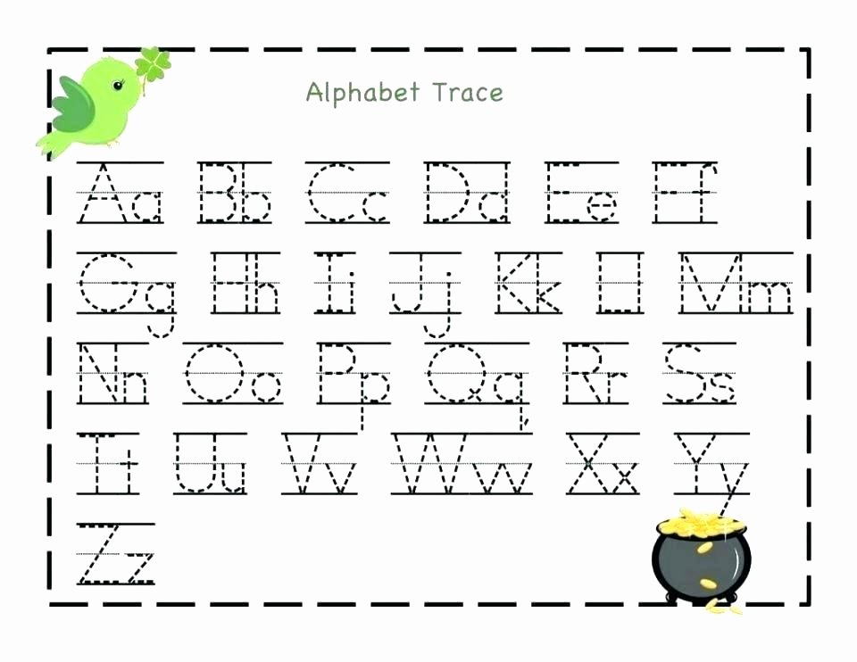 Tracing Letters Worksheet Az Alphabet Tracing Worksheets for Kindergarten New Printable