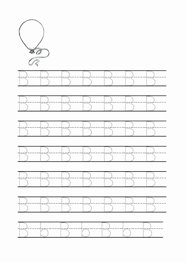Tracing Letters Worksheet Az Letter B Tracing Worksheets for Preschool