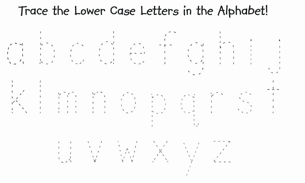 Tracing Letters Worksheet Az Lowercase Alphabet Tracing Worksheets