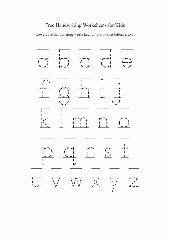 Tracing Lowercase Alphabet Worksheets Kindergarten Abc Tracing Worksheets
