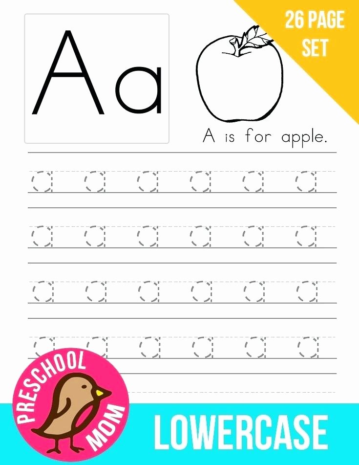 Tracing Lowercase Alphabet Worksheets Traceable Alphabet Worksheets for Preschoolers