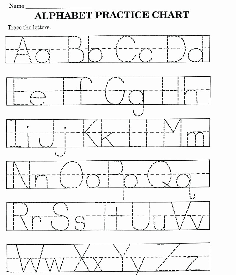 Tracing Lowercase Letters Printable Worksheets Pre K Letter Tracing Worksheets