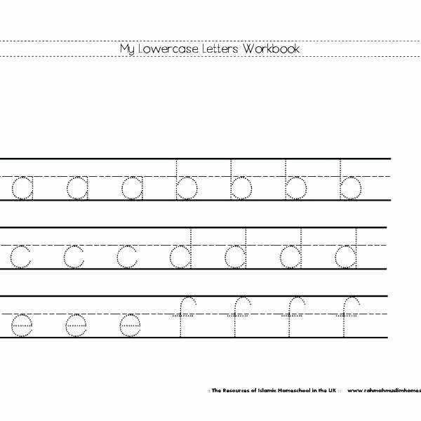 Tracing Lowercase Letters Worksheets Free Upper Case and Lower Case Matching Worksheet Alphabet