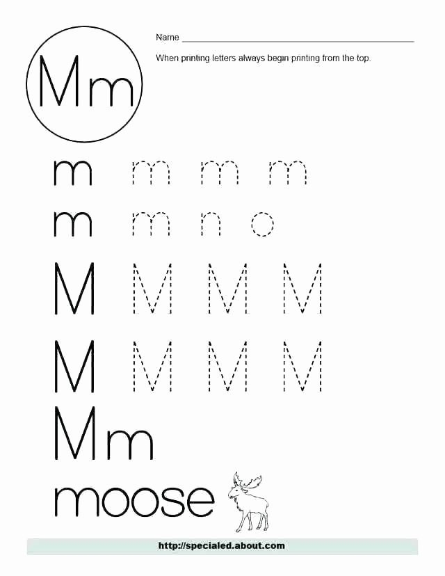 Tracing Lowercase Letters Worksheets Printable Letter M Worksheets Free Tracing Lowercase B for