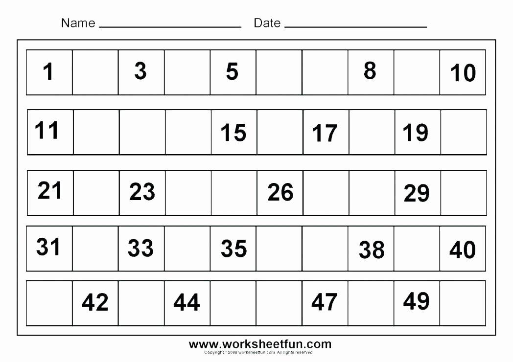 Tracing Number Worksheets 1 20 1 20 Worksheets for Preschoolers