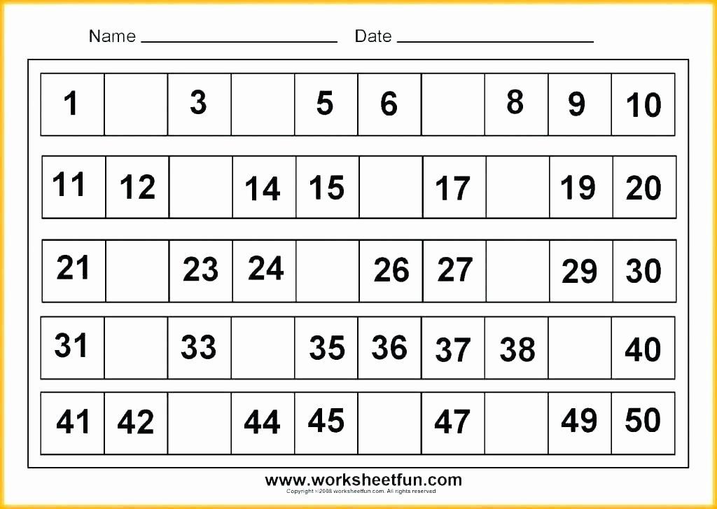 Tracing Number Worksheets 1 20 Number 4 Worksheets for Preschoolers Missing Numbers 1