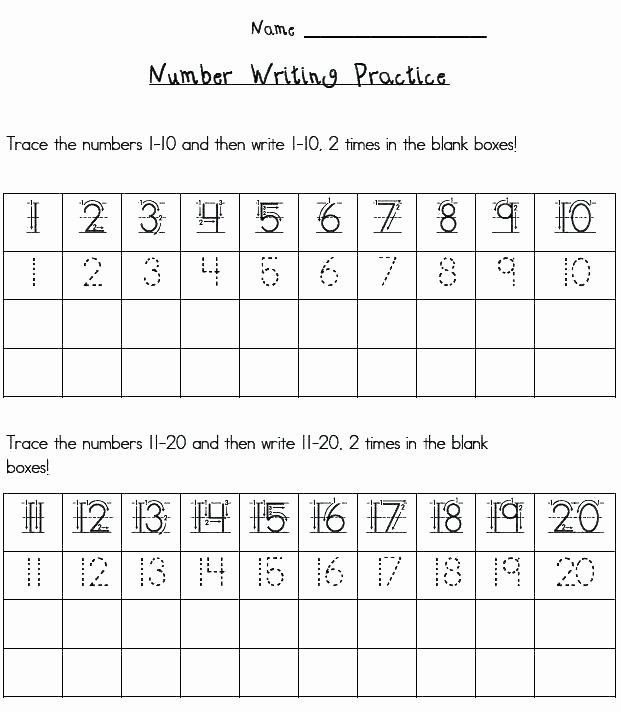 Tracing Number Worksheets 1 20 Number formation Worksheets 1 10