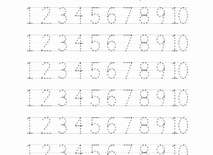 Tracing Numbers 1 20 Printable 1 10 Tracing Worksheets