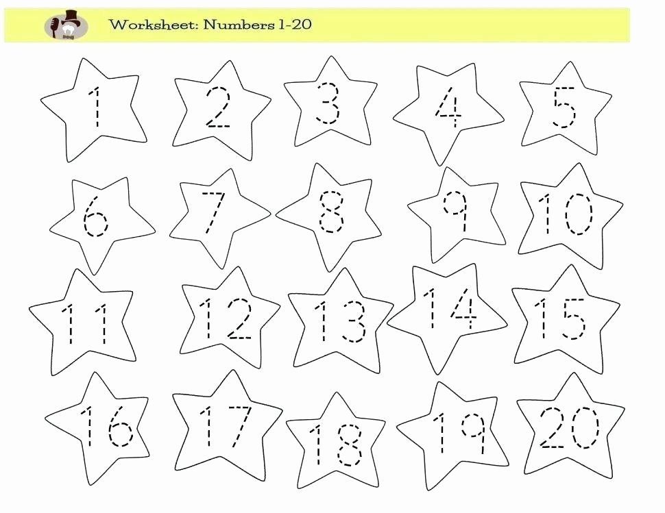 Tracing Numbers 1 20 Printable Traceable Number Worksheets
