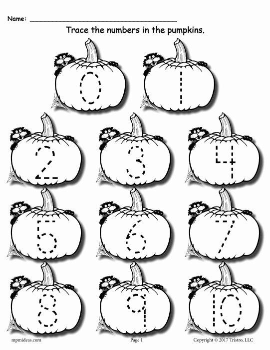 Tracing Numbers 1 20 Worksheet Free Printable Pumpkin Number Tracing Worksheets 1 20