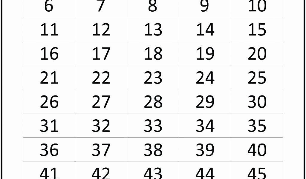 Tracing Numbers 1 20 Worksheet Pre K Number Tracing Worksheets