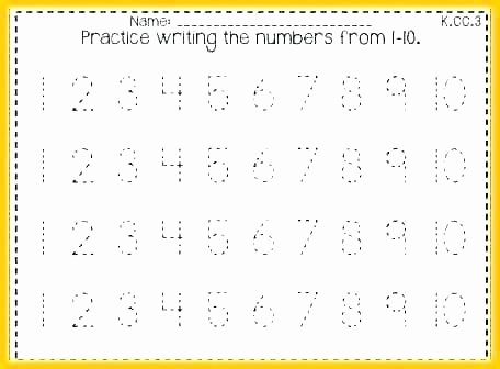 Tracing Numbers 1 20 Worksheets Free Printable Numbers 1 20 Worksheets Trace and Write