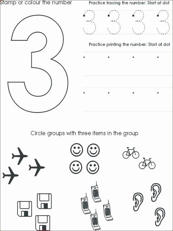 Tracing Numbers 1 20 Worksheets Pre K Number Tracing Worksheets