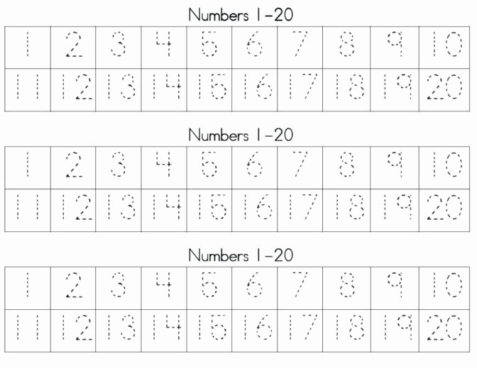 Tracing Numbers 1 20 Worksheets Worksheet Ideas Marvelous Free Printable Traceable Numbers