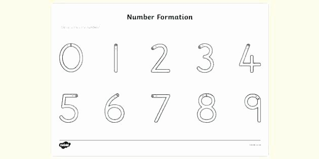 Tracing Numbers Pdf Tracing Letter and Number Worksheet Number formation