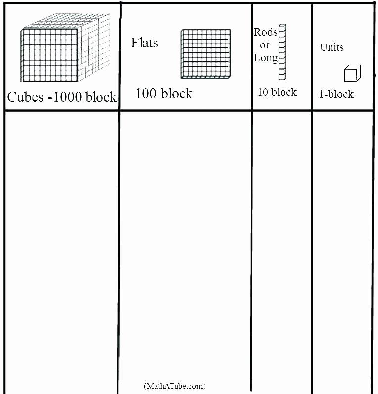 Trade First Subtraction Worksheet Base Ten Blocks Worksheets Trading Block Designing In Excel