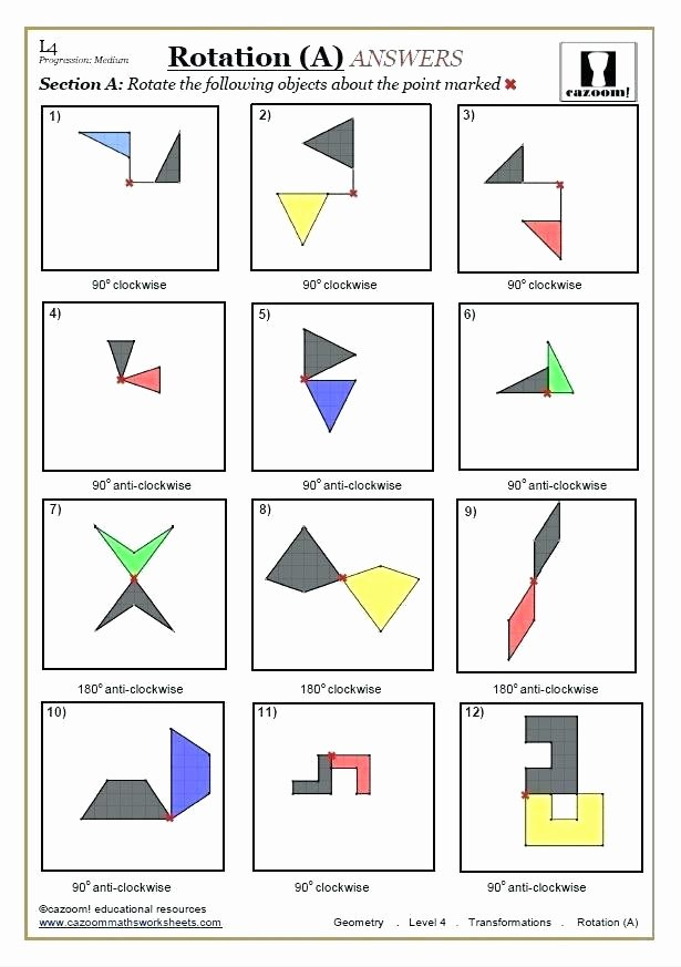 Transformations Math Worksheets Grade 5 Mathematics Geometry Worksheets