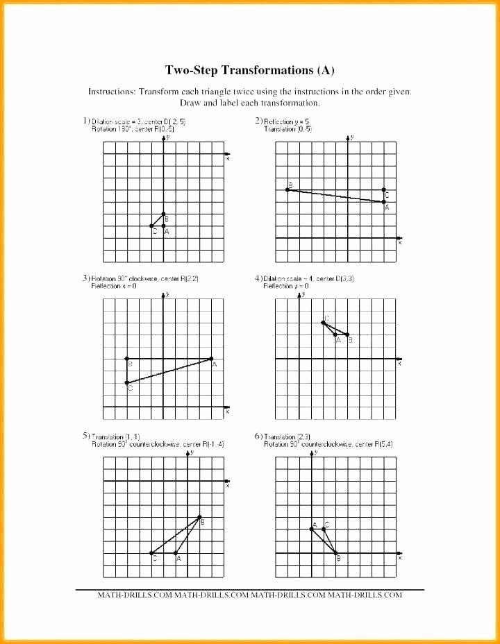 Transformations Math Worksheets Translation Math Worksheets – Benaqiba