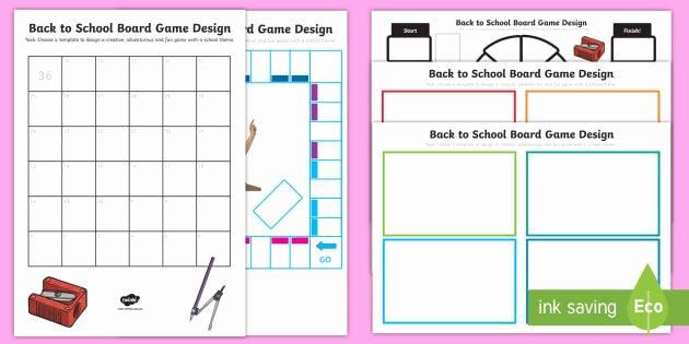 Transition Skills Worksheets Fresh Back to School Board Game Design Worksheet Transition New
